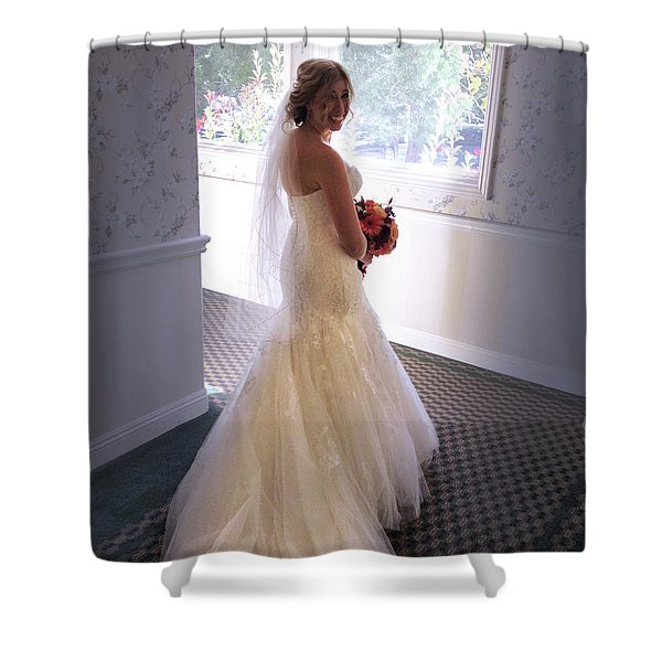 Cindy Sue Gets Married Shower Curtain