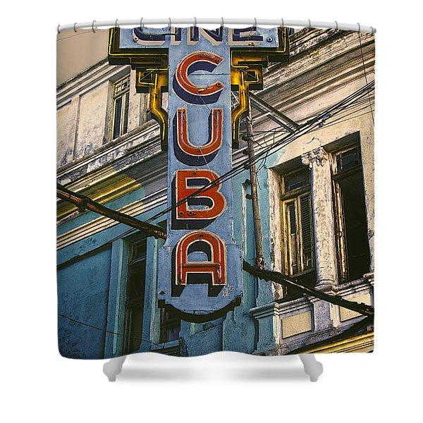 Cine Cuba Shower Curtain
