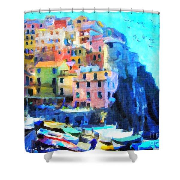 Cinque Terre Shower Curtain