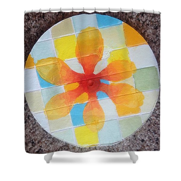 Circle For Daud Shower Curtain