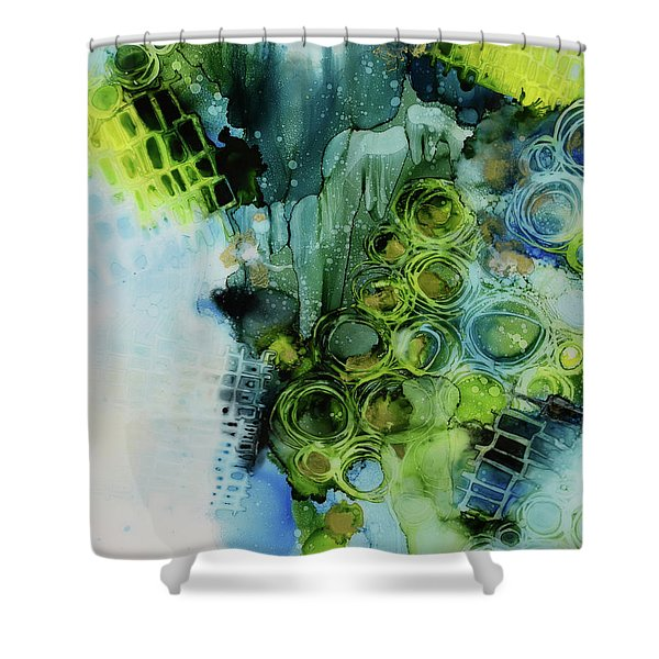 Circle Magic 1 Shower Curtain