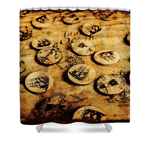Circle Sails Shower Curtain