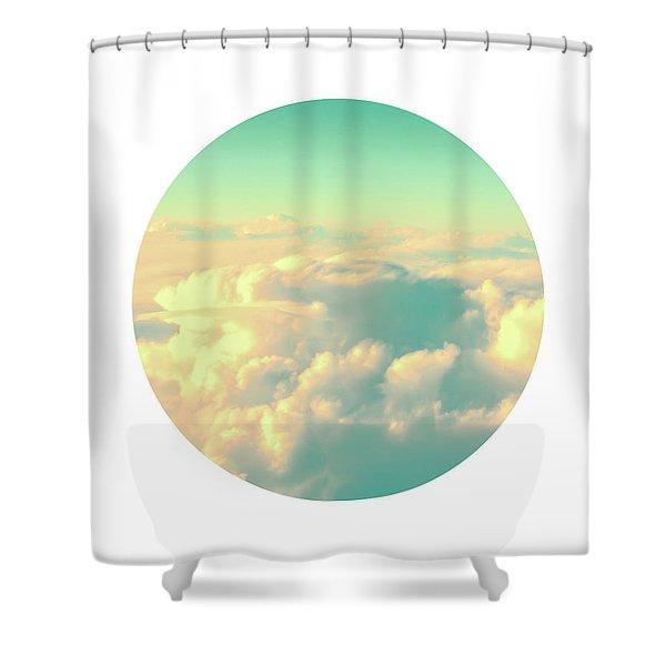 Circle Sky Shower Curtain