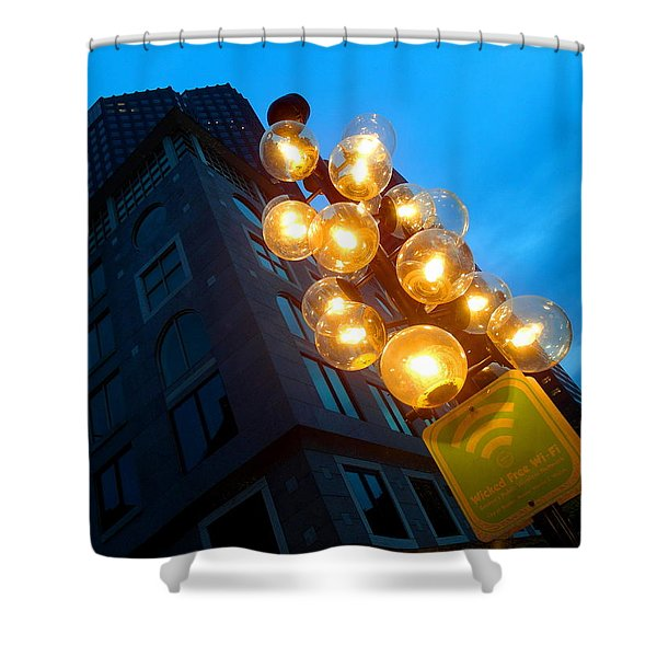 Circles Of Light  Shower Curtain