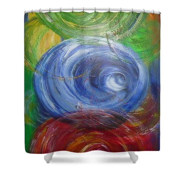 Concentric Joy Shower Curtain