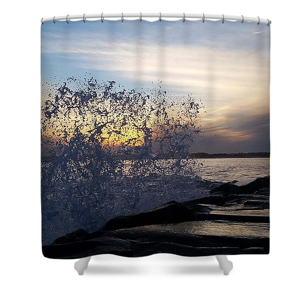 Circling Sunset Shower Curtain