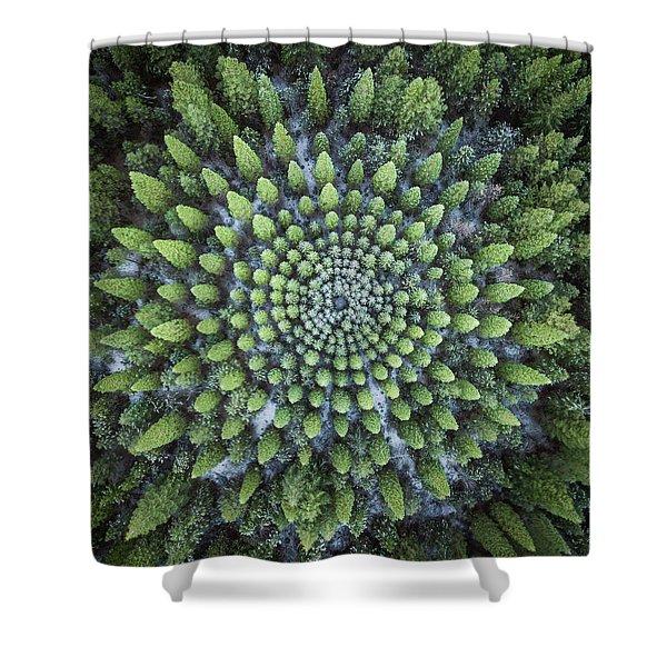 Circular Symmetry Shower Curtain