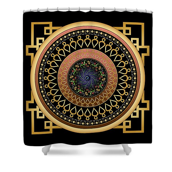 Circulosity No 2806 Shower Curtain