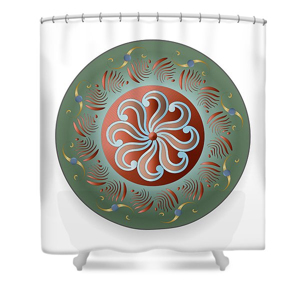 Circulosity No 2921 Shower Curtain