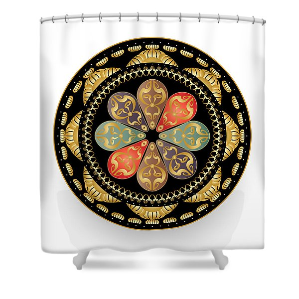 Circulosity No 3012 Shower Curtain