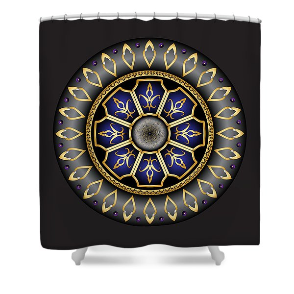 Circulosity No 3032 Shower Curtain