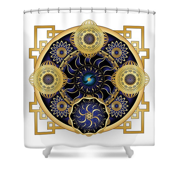 Circulosity No 3129 Shower Curtain