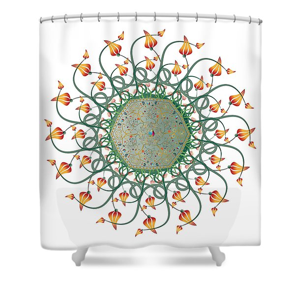 Circulosity No 3275 Shower Curtain