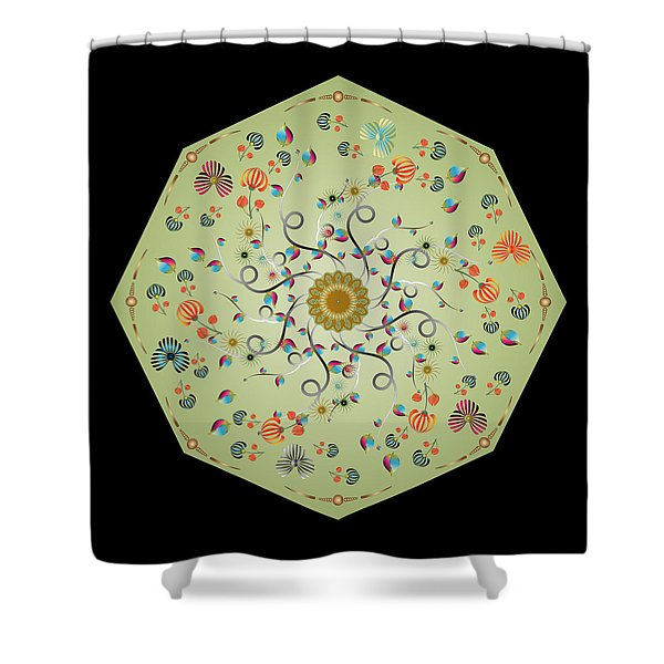 Circulosity No 3278 Shower Curtain