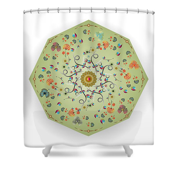 Circulosity No 3279 Shower Curtain