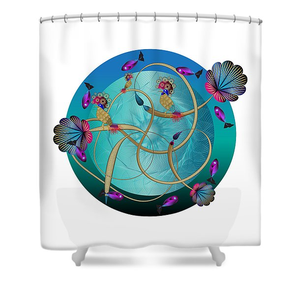 Circulosity No 3410 Shower Curtain