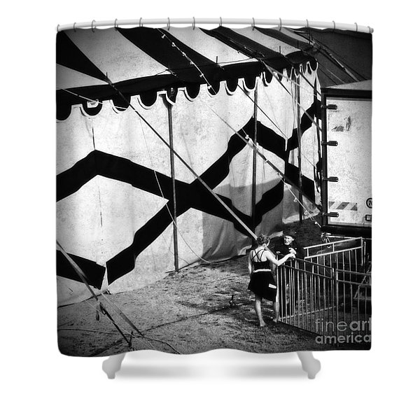 Circus Conversation Shower Curtain by Silvia Ganora