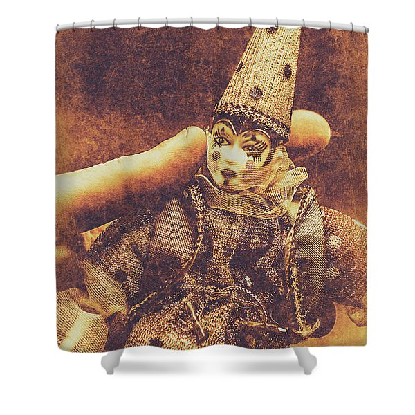 Circus Puppeteer  Shower Curtain