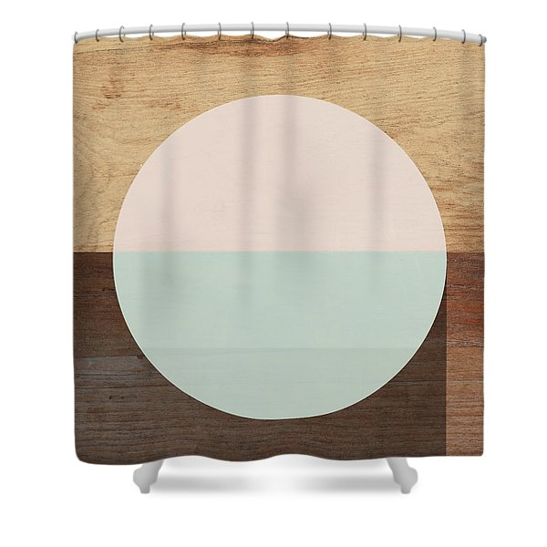 Cirkel In Peach And Mint- Art By Linda Woods Shower Curtain