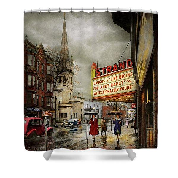 City - Amsterdam Ny - Life Begins 1941 Shower Curtain