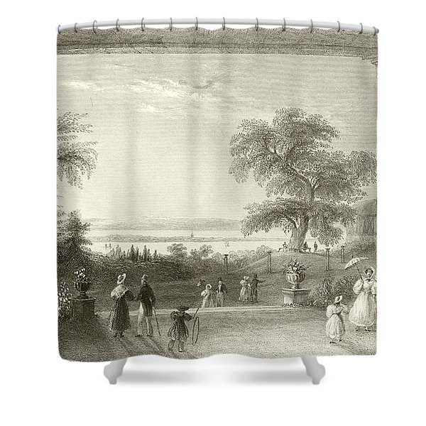 City And Lake Of Constance From The Chateau Wolfsberg Shower Curtain