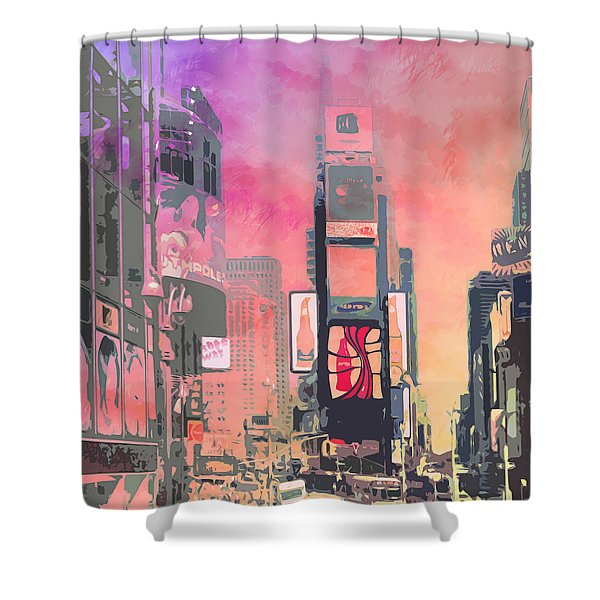 City-art Ny Times Square Shower Curtain