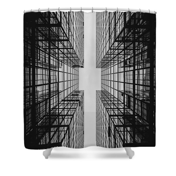 City Buildings Shower Curtain