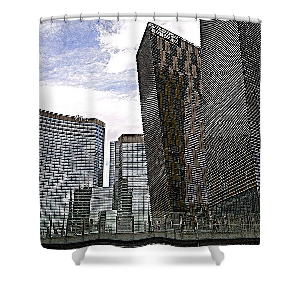 City Center At Las Vegas Shower Curtain