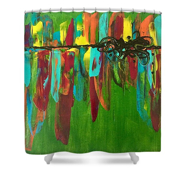 City Dreams  Shower Curtain