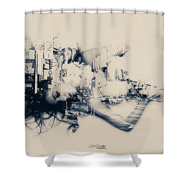 City Girl Dreaming Shower Curtain
