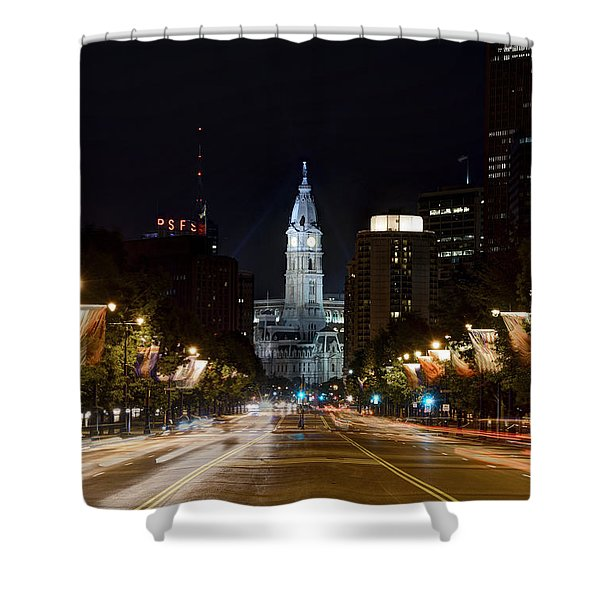 City Hall From The Parkway Shower Curtain