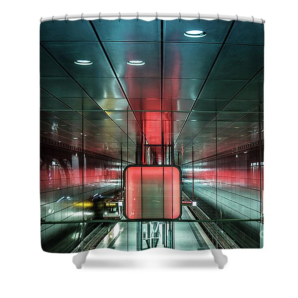 City Metro Station Hamburg Shower Curtain
