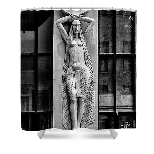 City Museum Figure Shower Curtain