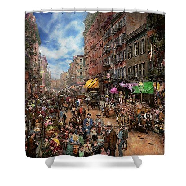 City - Ny - Flavors Of Italy 1900 Shower Curtain