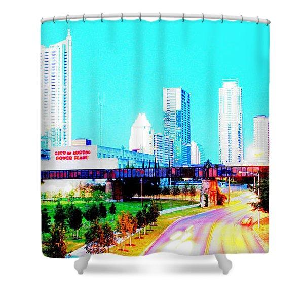 City Of Austin From The Walk Bridge 2 Shower Curtain