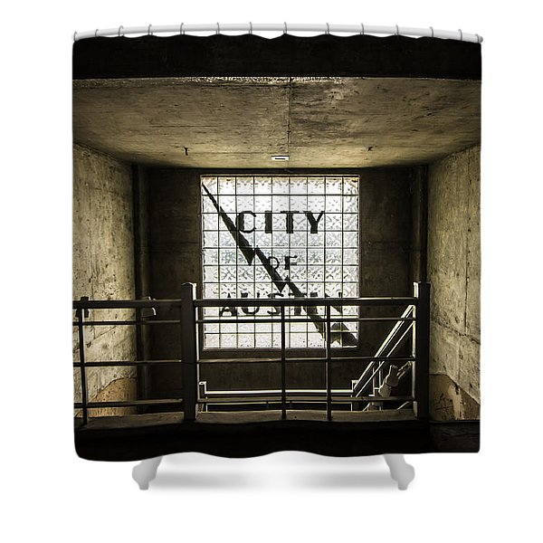 City Of Austin Seaholm Shower Curtain