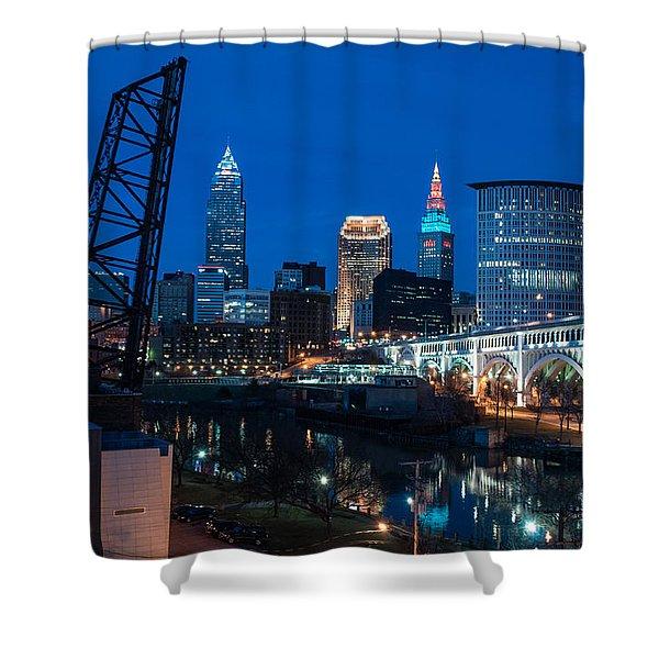 City Of Bridges Shower Curtain