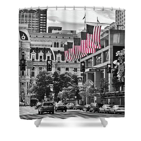 City Of Brotherly Love - Philadelphia Shower Curtain