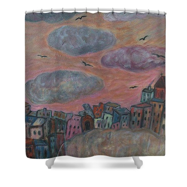 City Of Clouds Shower Curtain