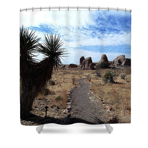 City Of Rocks - New Mexico Shower Curtain