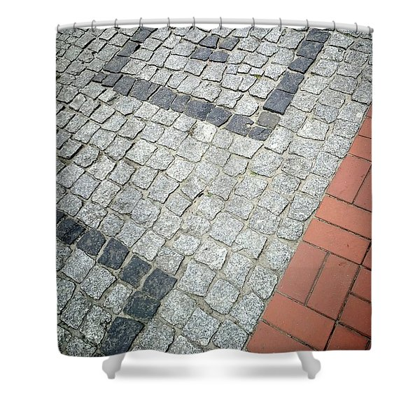 City Pavement Shower Curtain