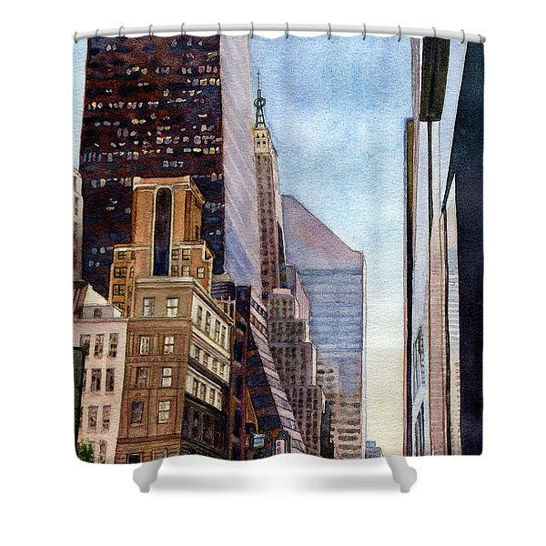 City Sunrise Shower Curtain
