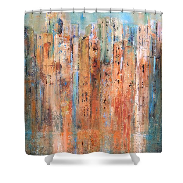 Cityscape #3 Shower Curtain