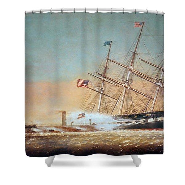 Civil War Merrimack 1862 Shower Curtain