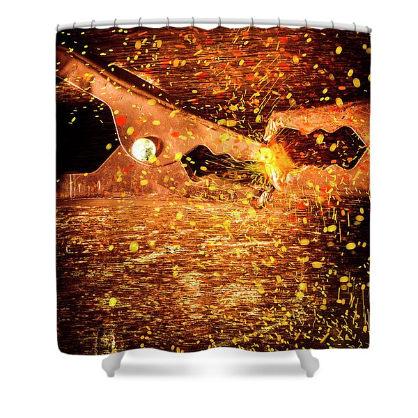 Clamp And Surge Shower Curtain