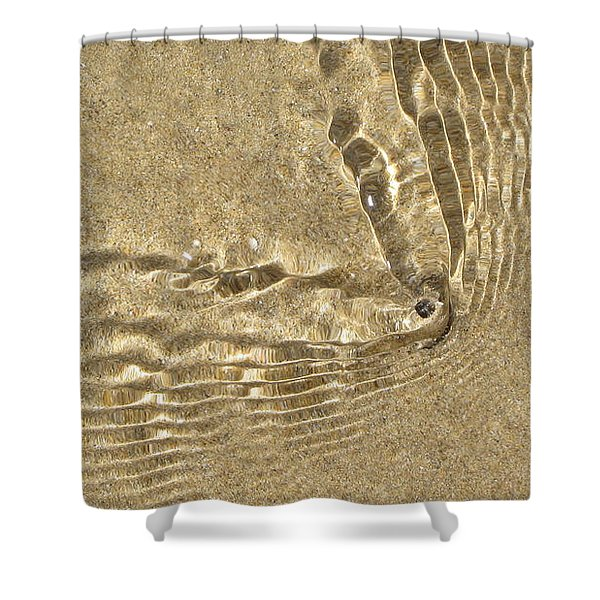 Clams And Ripples Shower Curtain