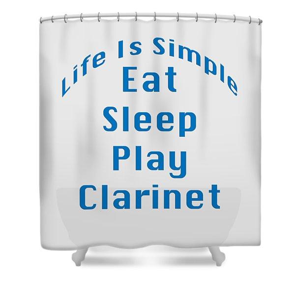 Clarinet Eat Sleep Play Clarinet 5512.02 Shower Curtain