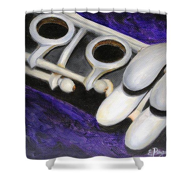 Clarinet Shower Curtain