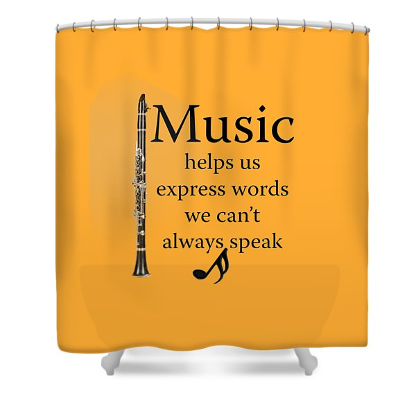 Clarinet Music Expresses Words Shower Curtain