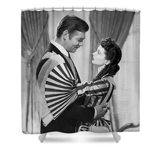 Clark Gable And Vivien Leigh Shower Curtain
